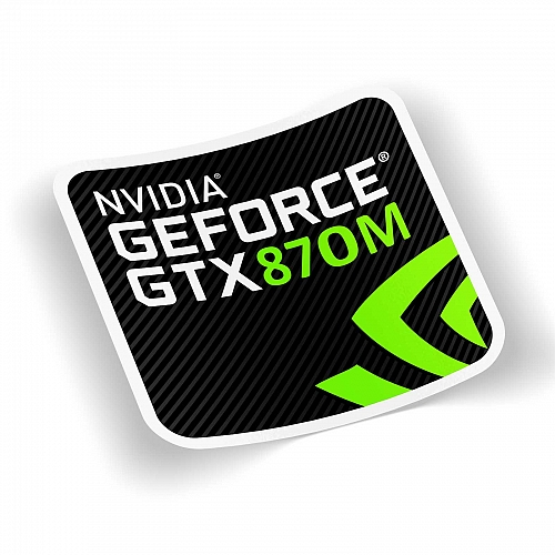 Стикер  nvidia geforce 870m