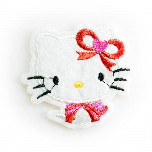 Нашивка Hello Kitty, белая