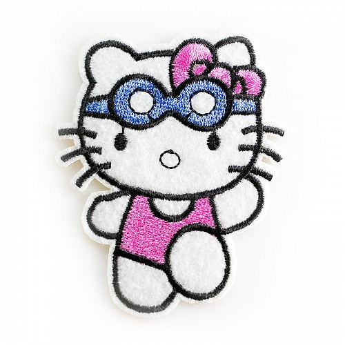 Нашивка Hello Kitty в очках
