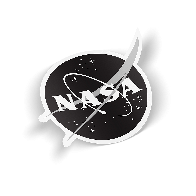 Стикер NASA (monochrome) #1